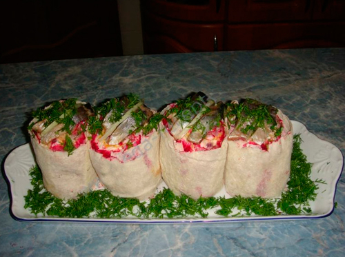 Рецепт салата с селедкой с пошагово