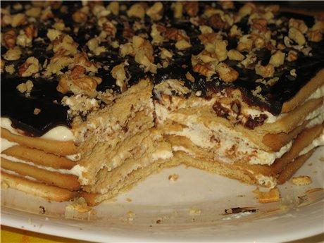 Рецепты тортов из печенья в домашних условиях с пошагово
